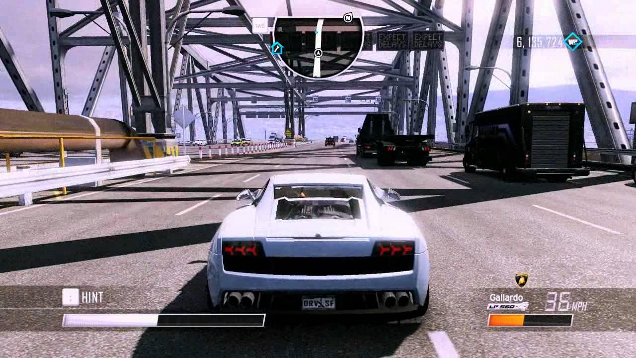 Driver San Francisco   Lamborghini Gallardo LP560 4 Test Crash + ENB [HD]    YouTube