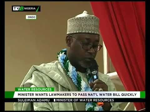 Water Resources minister  wants quick passage of National Water Bill