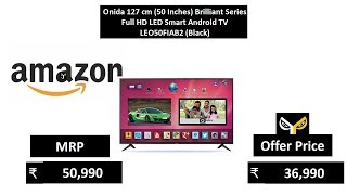 Onida 127 cm (50 Inches) Brilliant Series Full HD LED Smart Android TV LEO50FIAB2 (Black)