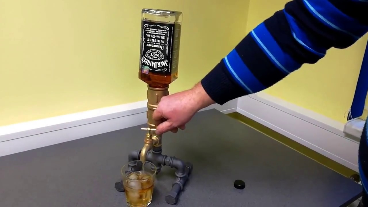 The Whiskey Liqour Wine Dispenser With Bottles Youtube