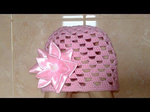 Летняя шапочка для девочки крючком: схема и описание