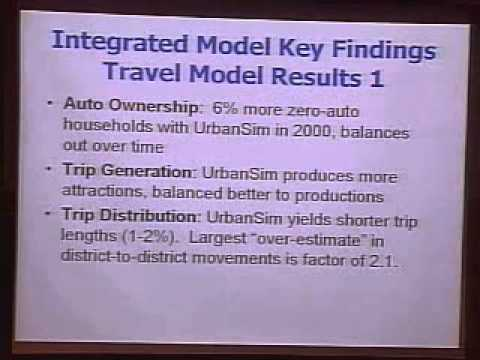 Integrated Transport/Land Use Modeling