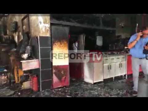 Report TV - Velipojë, pamje nga resorti që u përfshi nga flakët