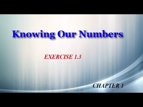 Knowing Our Numbers 1.3