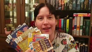 Scratching £20 worth of  UK Scratchcards    #scratchcards