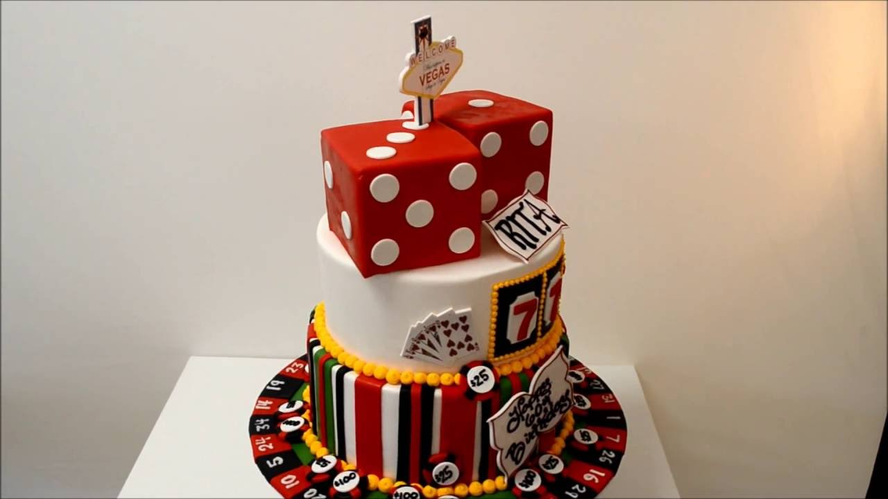 Vegas Theme Cake With Dices And Poker Chips Youtube