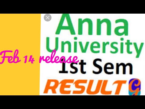 Anna University Results Nov Dec 2018 (Released) – UG/PG Result 2019 first semester exam out Mp3
