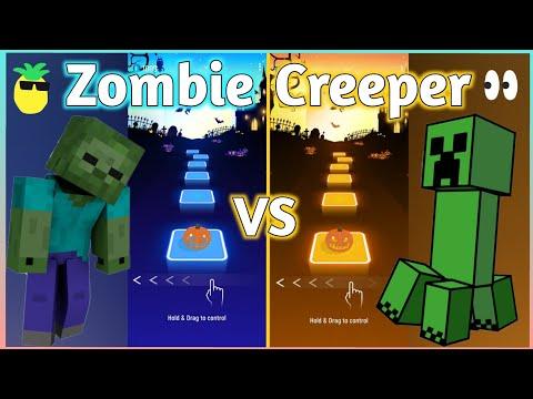 Download Tiles Hop - Minecraft Zombie Rap VS Minecraft Creeper Rap (Dan Bull) V Gamer