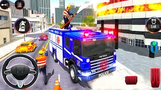 Police Ambulance Fire Truck Simulator 2021 - City Emergency Fire Service - Android Gameplay screenshot 2