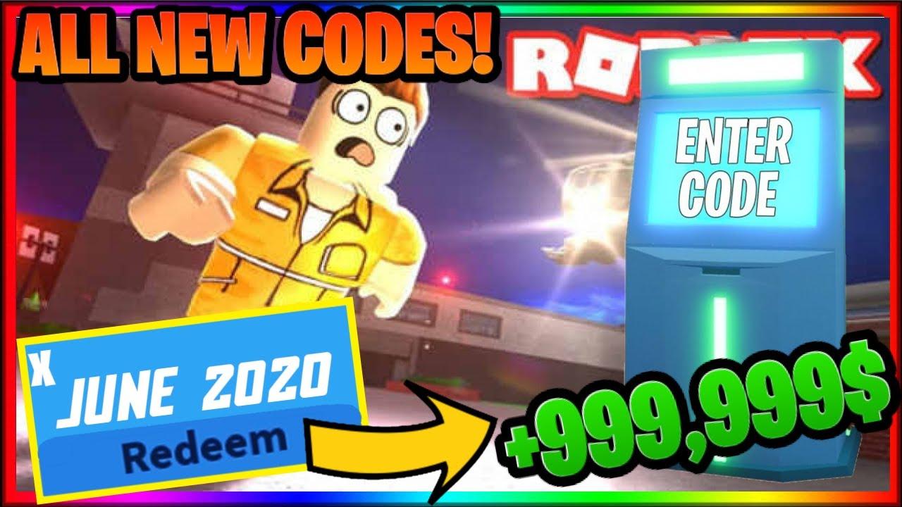 Roblox Codes Working June 2020 All Working Roblox Jailbreak Codes June 2020 Jailbreak New