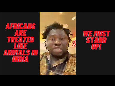 Africans mistreated in India, Nigerian yells with anger in grocery store telling Africans to wake up