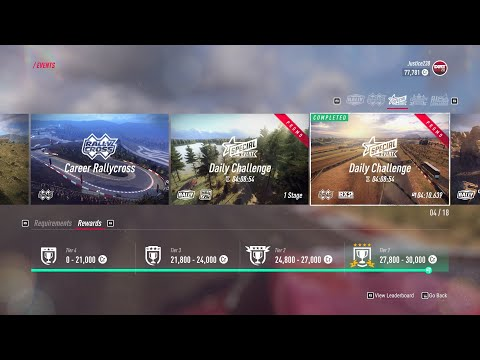 Dirt Rally 2.0 - 5/10/20 Daily Challenge - Rally Cross RX2 |