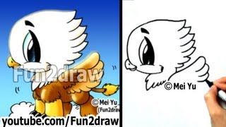 How to Draw a Griffin in 2 min - Easy Things to Draw - Cute Art - Fun2draw