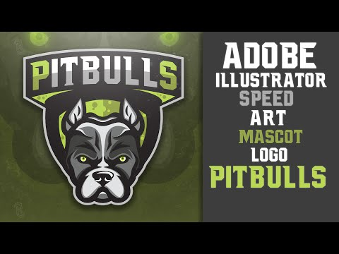 Adobe Illustrator - Pitbulls Mascot Logo(E-Sports/Sports)