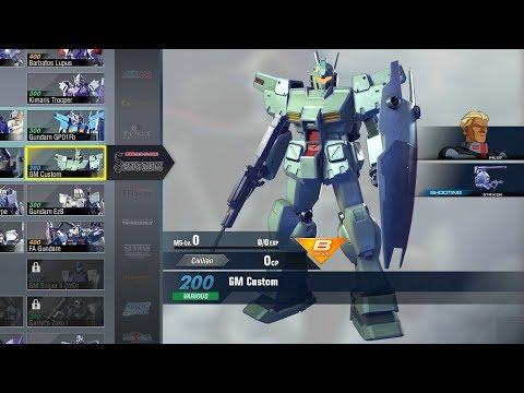 Gundam Versus Combo Guide - GM Custom