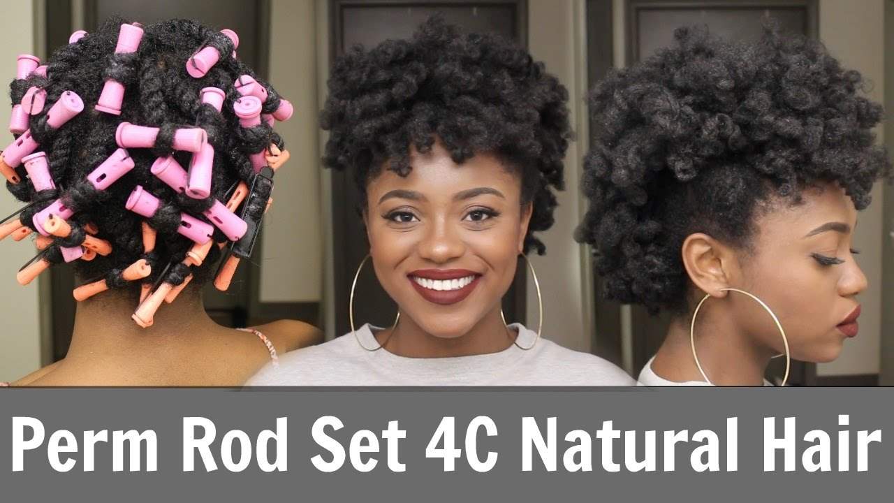 Perm Rod Set Frohawk 4c Natural Hair Youtube