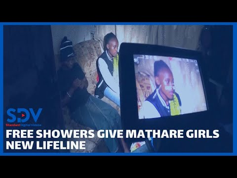 Free showers give hygiene lifeline to girls in Mathare