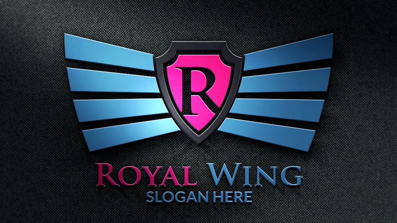 Logo design photoshop tutorial royal wing youtube logo design photoshop tutorial royal wing baditri Gallery