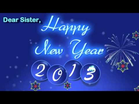 ecard new year 2013 for sister animated happy new year card