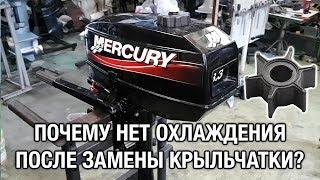 ⚙️🔩🔧Почему нет охлаждения после замены крыльчатки? Лодочный мотор Mercury 3.3