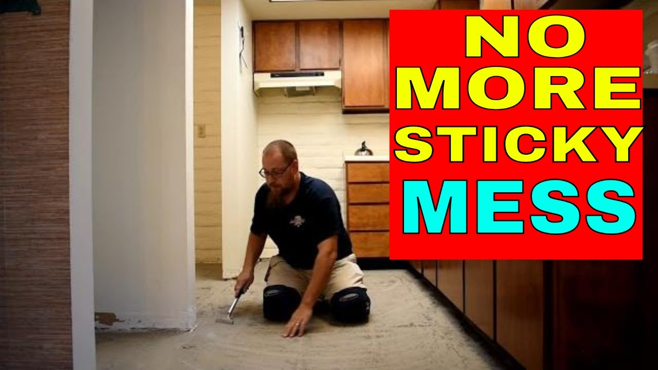 how to remove sticky residue from peel and stick tiles