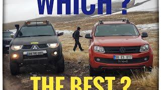 VW AMAROK vs Mitsubishi L200   OFF ROAD @TURKEY