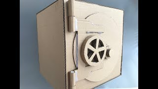 DIY Safe with Combination Lock from Cardboard