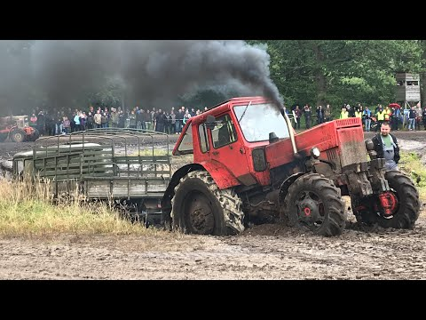 18. Ostblocktreffen Pütnitz 2019 / Bergung МТЗ Беларусь ГАЗ 66 LO 2002A УАЗ 469