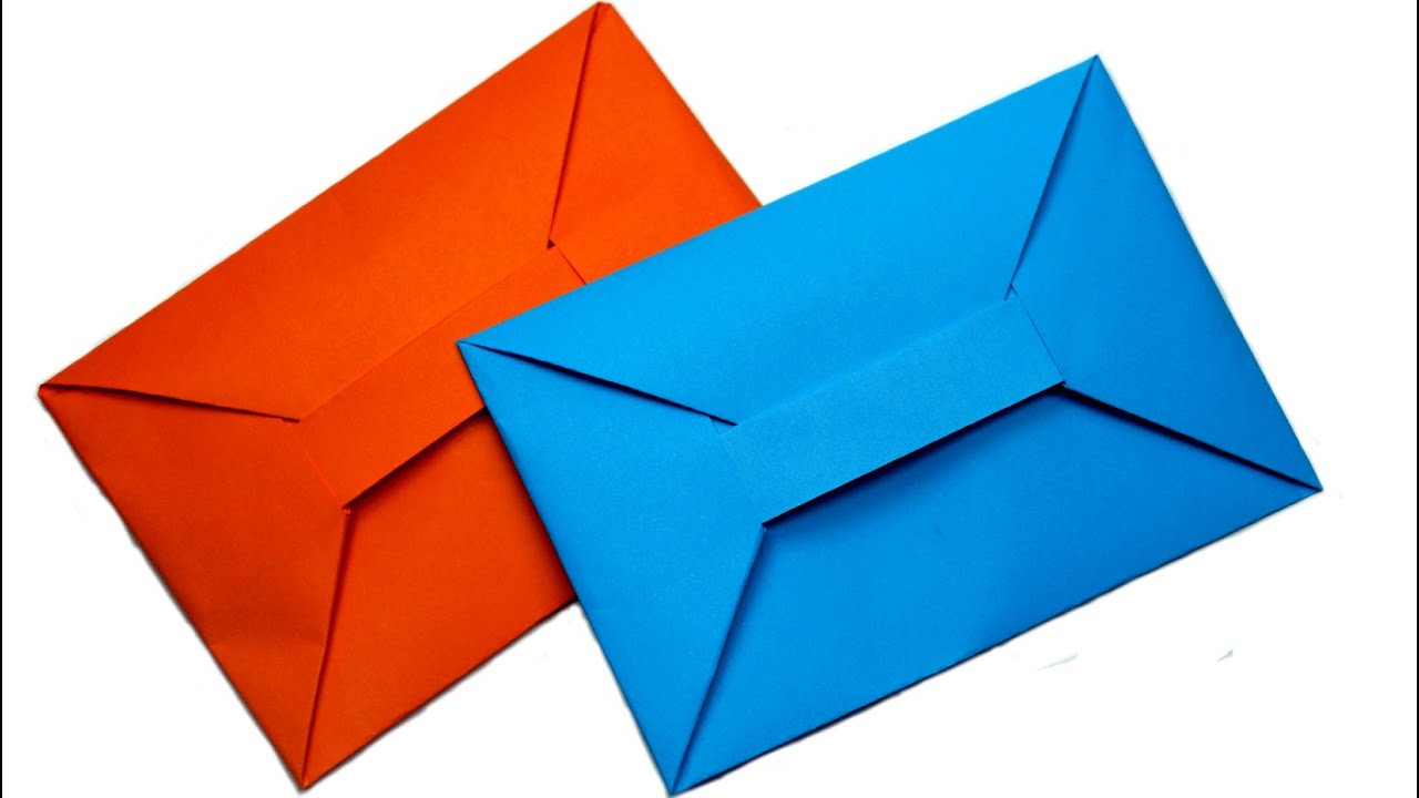 diy easy origami envelope tutorial youtube