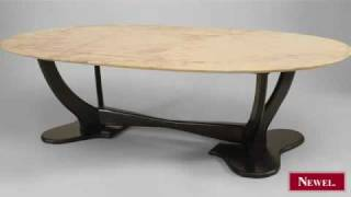 Antique Italian 1940s Coffee Table With Ebonized Base With
