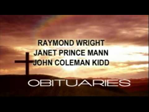 Obituaries for Oct. 3rd brought to you by Radney Smith Funeral Home.