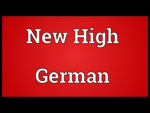 New High German Meaning