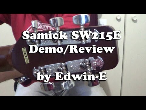 samick sw215e acoustic electric guitar demo review youtube. Black Bedroom Furniture Sets. Home Design Ideas