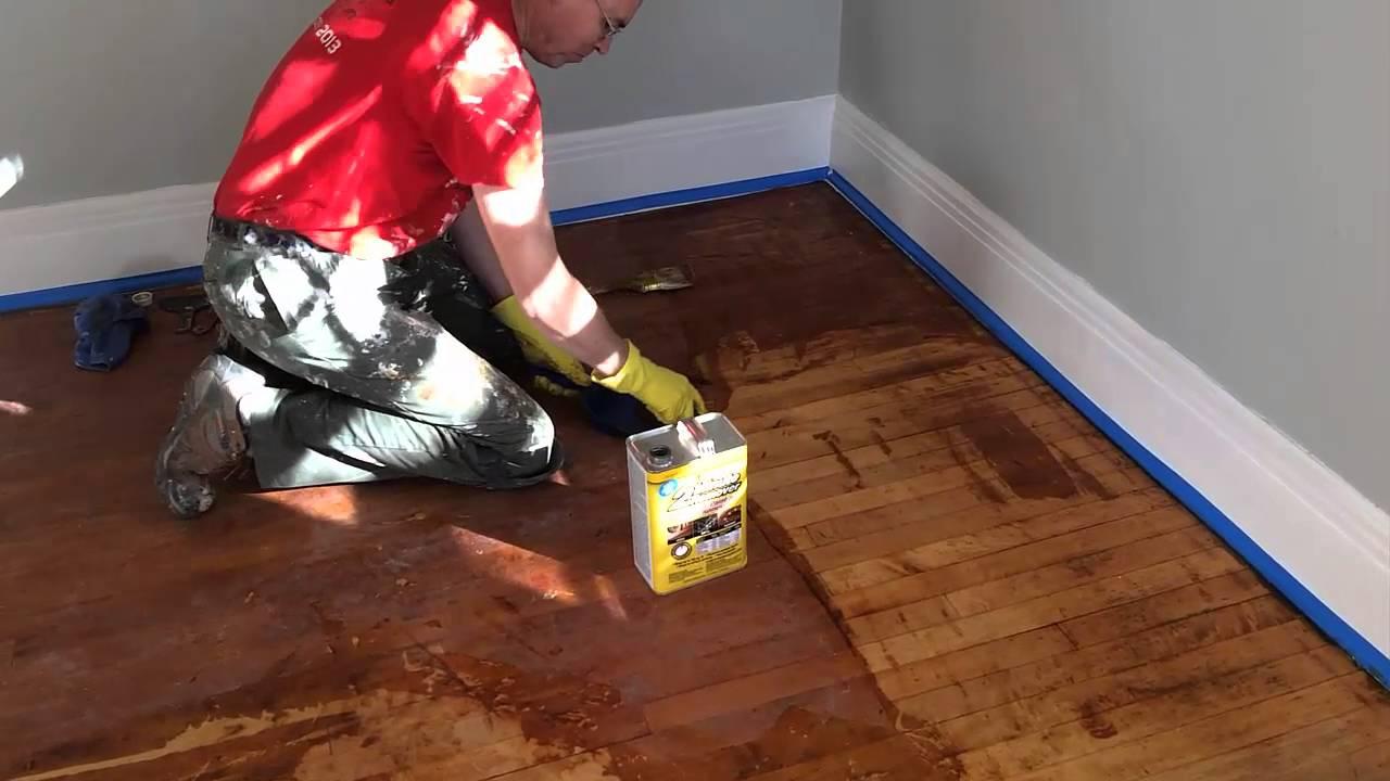 Refinishing hardwood floors by stripping  YouTube
