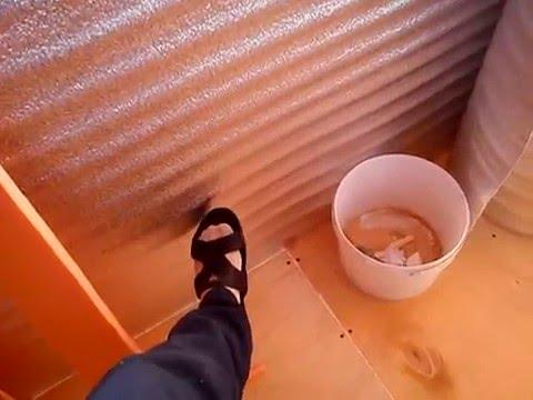 Утепление балкона своими руками часть 2. - youtube.