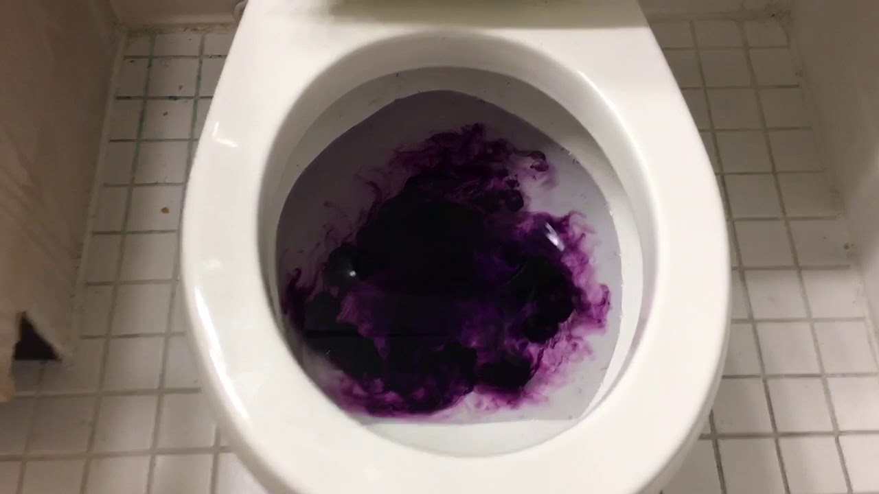 Will it Flush? - Purple Food Coloring