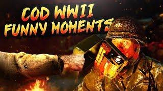 Call of Duty WW2 Funny Moments - Glitch Killcams & Failed Clutches