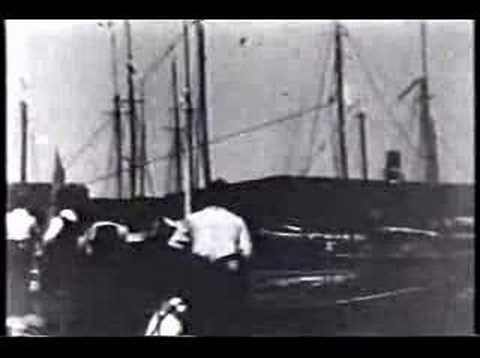 Galveston Hurricane 1900 stranded boat