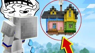 FIZ A CASA DA MENINA VOAR! ELA CHOROU?! Trollando Players no Minecraft