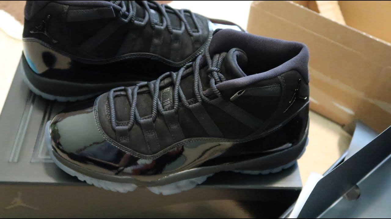 a98a70dad8e Air Jordan 11 Retro Cap and Gown Sneaker Unboxing - YouTube