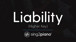 Liability (HIGHER Piano Karaoke) Lorde