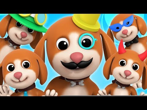 Five Little Puppies | Children's Nursery Rhymes | Songs for Babies | Luke and Lilly