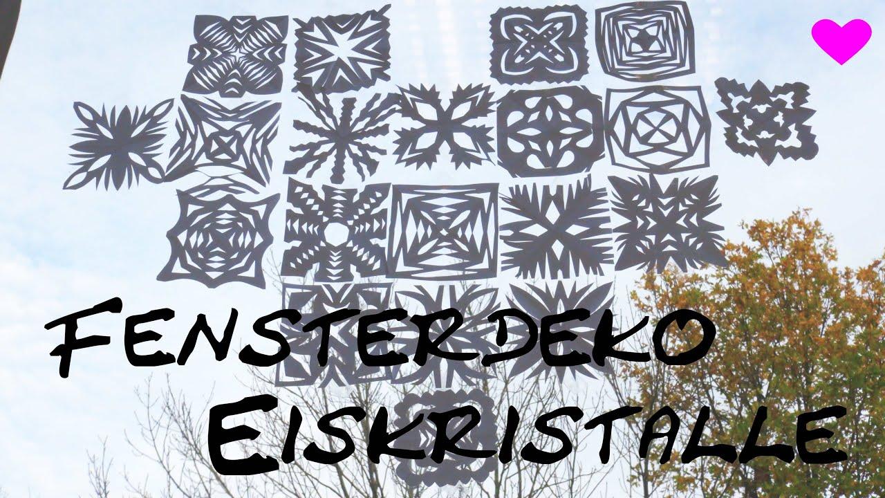 Winterliche eiskristall fensterdeko diy schneeflocken weihnachtlicher dekotipp anleitung - Fensterdeko klassenzimmer ...