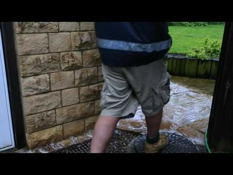 Patio Cleaning In Minutes Using Monty Solution - No Jet washing / Pressure Washing.