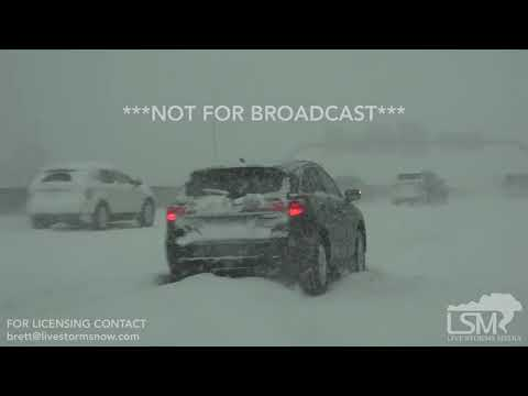 04-14-2018 Minneapolis, MN - Impossible Rush Hour Driving Conditions
