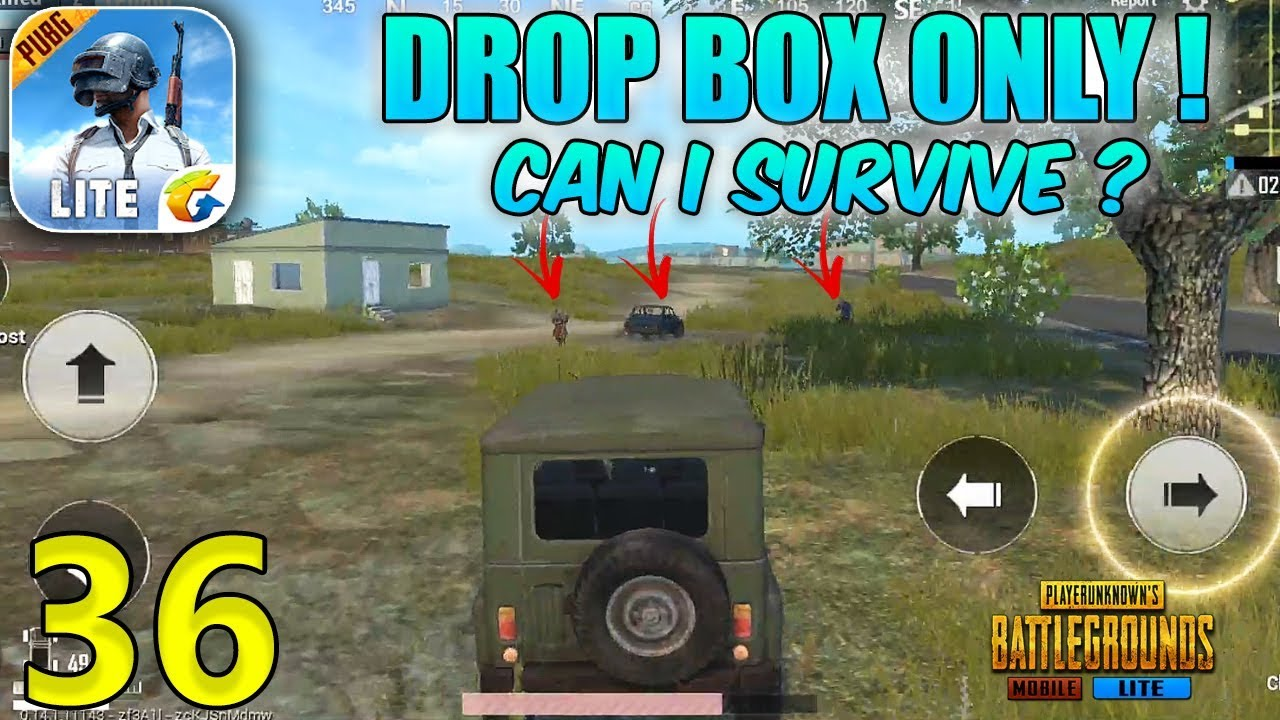 PUBG MOBILE LITE | DROP BOX ONLY CHALLENGE | CAN I SURVIVE? - Part - 36