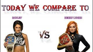 Becky Lynch VS Bayley Becky Lynch VS Bayley Comparison video