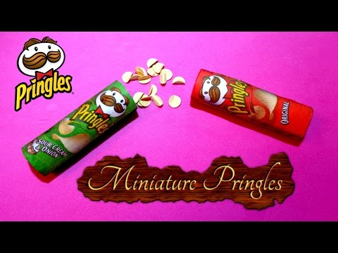 Miniature Pringles - DIY LPS Crafts & Doll Crafts