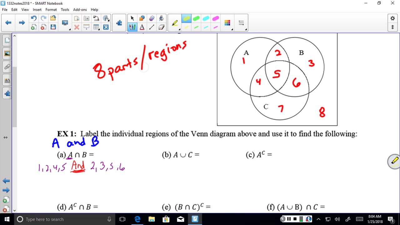 Venn Diagram Word Problems 2 And 3 Circle Youtube