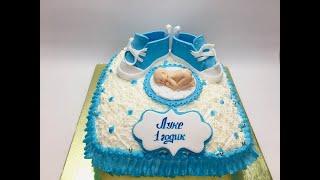 оформление торта подушка ( кремовый торт )